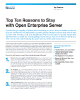 Top Ten Reasons to Stay with Open Enterprise Server