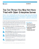 Top Ten Things You May Not Have Tried with Open Enterprise Server
