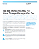 Top Ten Things You May Not Know Storage Manager Can Do