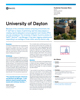 University of Dayton Success Story