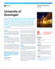 University of Groningen Customer Success Story