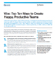 Vibe - Top Ten Ways to Create Happy Productive Teams