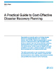 A Practical Guide to Cost-Effective Disaster Recovery Planning