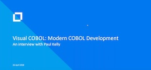 Visual COBOL: An interview with Paul Kelly