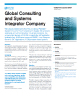 Global Consulting and Systems Integrator Company Success Story
