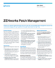 ZENworks Patch Management Data Sheet