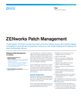ZENworks Patch Management Product Flyer