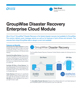 GroupWise Disaster Recovery Enterprise Cloud Module