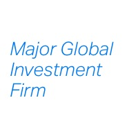 Major Global Investment Firm
