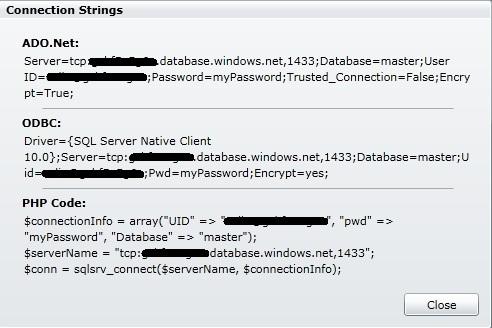 Using SQL Azure with Enterprise Server for  NET