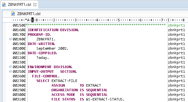 Displaying and Editing COBOL Code from the Mainframe